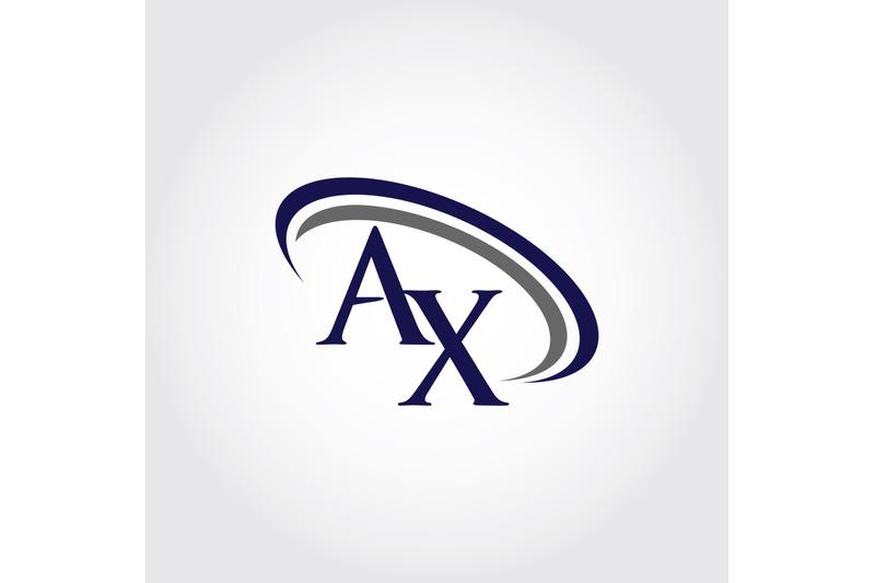 monogram-ax-logo-design
