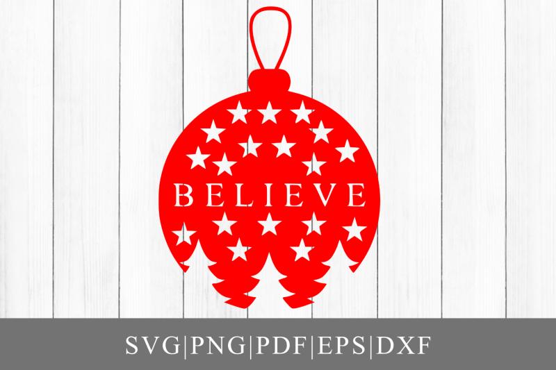 believe-ornament-svg-cut-file-for-cricut-silhouette