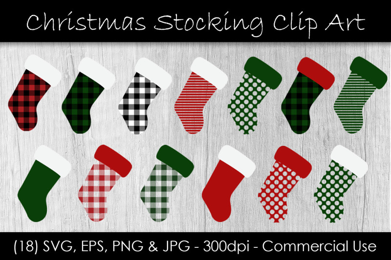 christmas-stocking-buffalo-check-clip-art