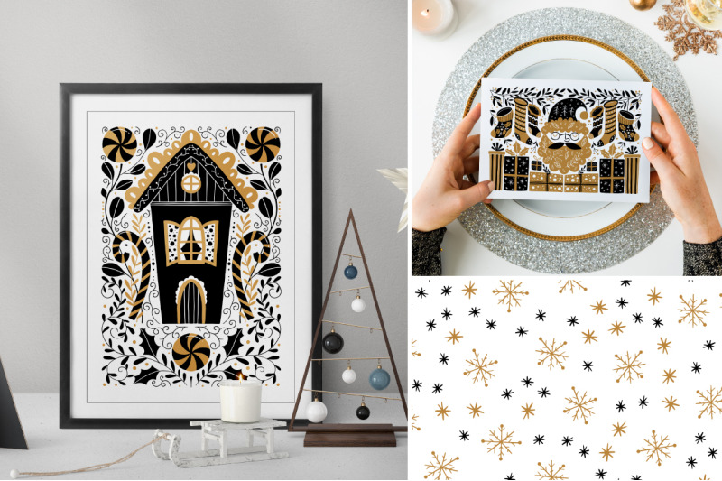 gold-christmas-folk-art-collection