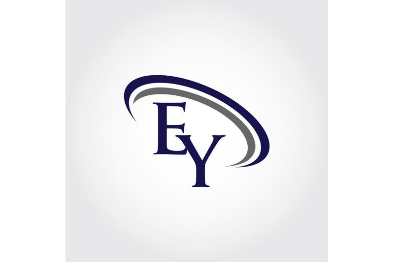 monogram-ey-logo-design
