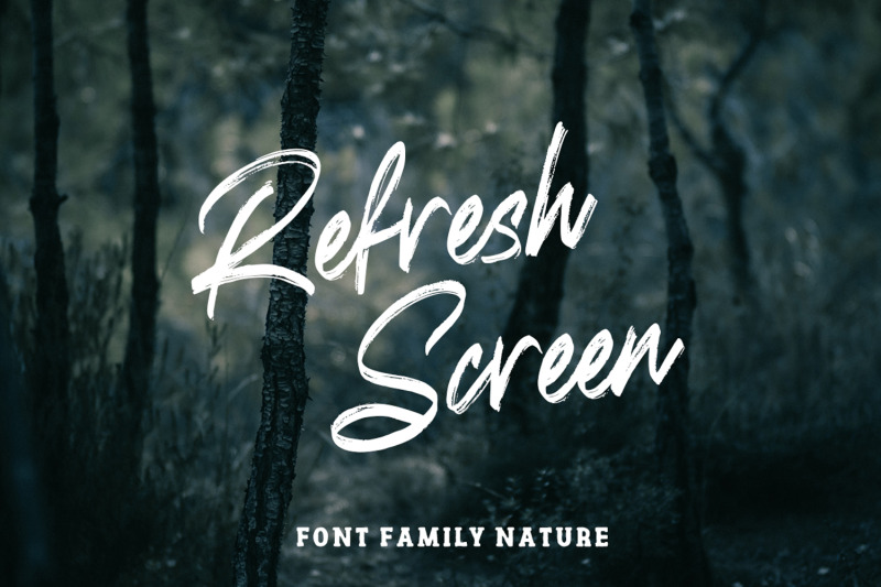 refresh-screen-brush-script-font-duo