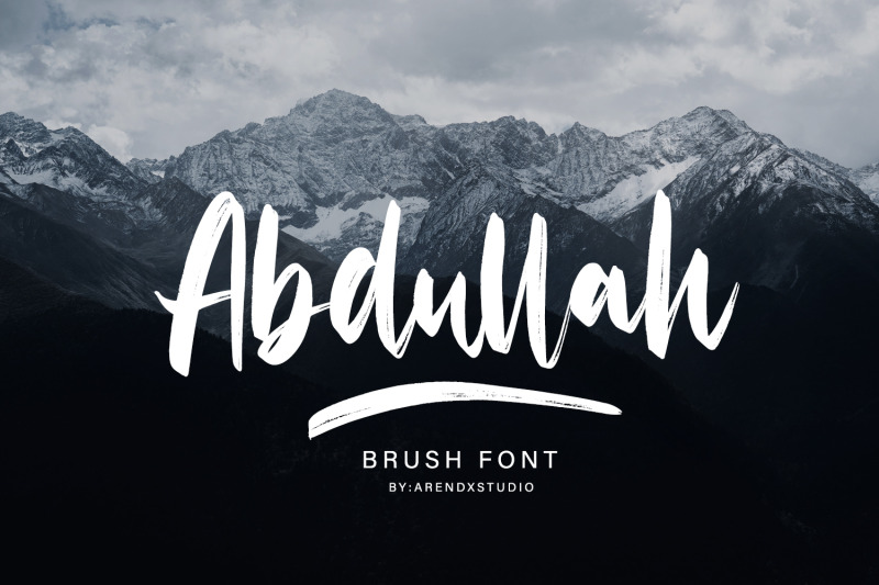 abdullah-handbrush-typeface
