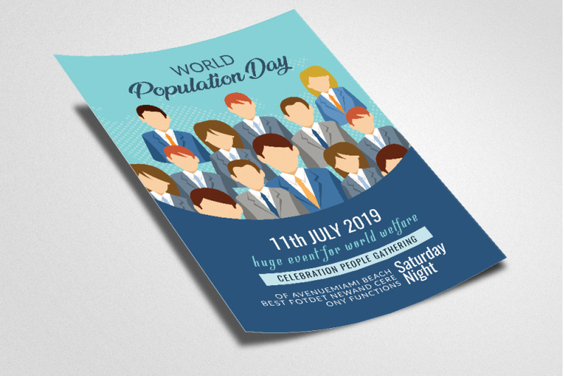 world-population-day-flyer-template