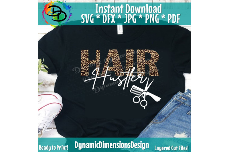 Hair Hustler Svg Beautician Cutting File For Cricut