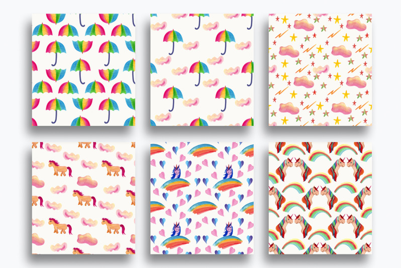 baby-shower-paper-rainbow-clouds
