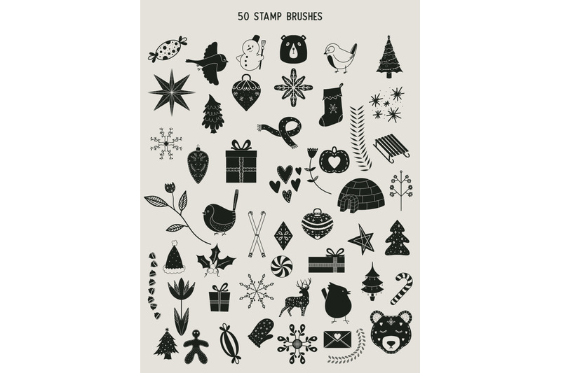 50-procreate-winter-holiday-christmas-stamp-brushes