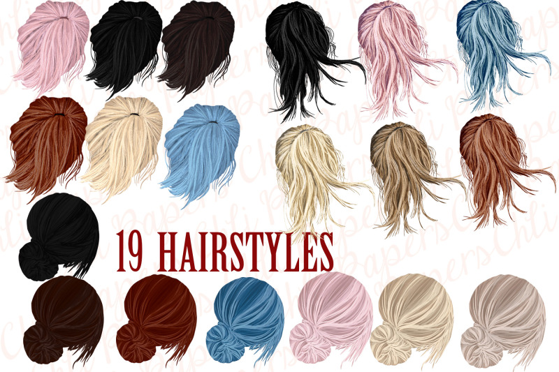 best-friends-clipart-custom-besties-hairstyles-clipart