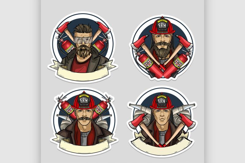 set-of-sketch-fireman-stickers
