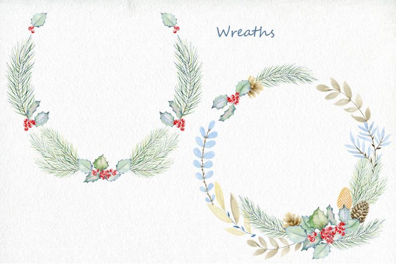 winter-woodland-watercolor-set