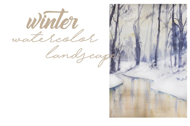 watercolor-winter-landscape