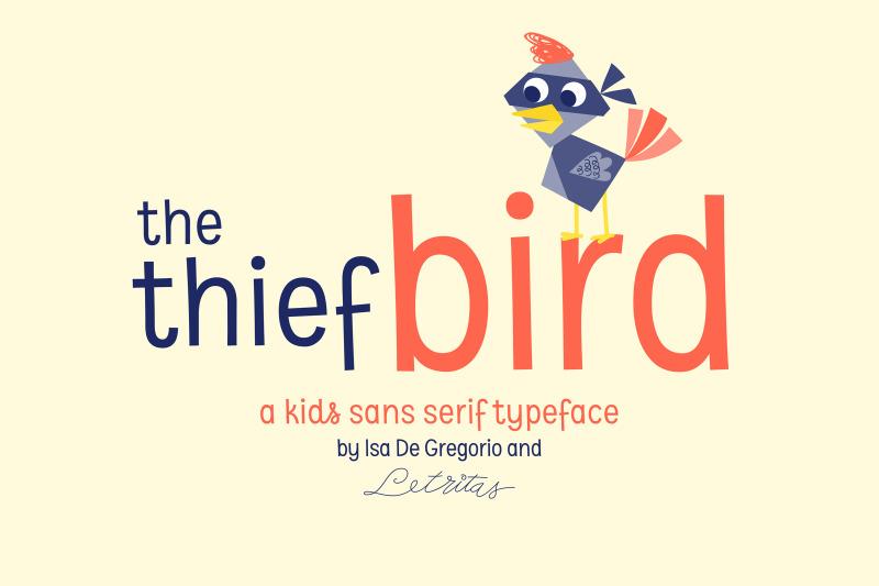 the-thief-bird-font