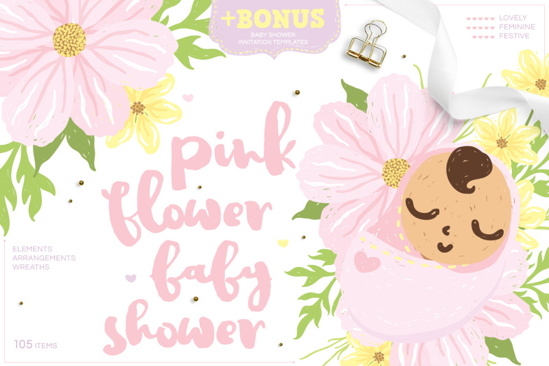 pink-flower-baby-shower-cute-girl