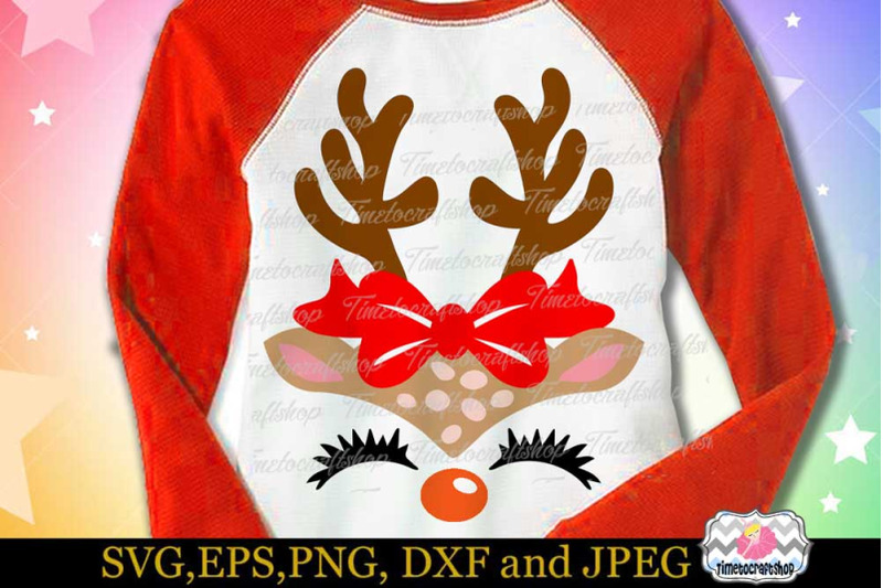 svg-dxf-eps-amp-png-cutting-files-christmas-reindeer-girl-face-amp-bow