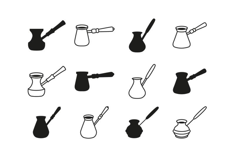 coffee-cezve-icon-set