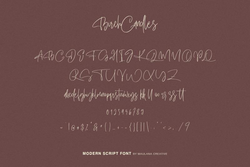 birch-candles-handwritten-font