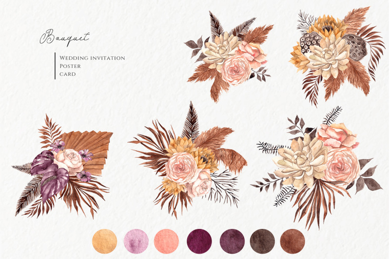 dried-flowers-watercolor-collection