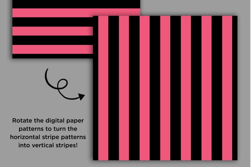 black-rainbow-seamless-stripes-digital-paper