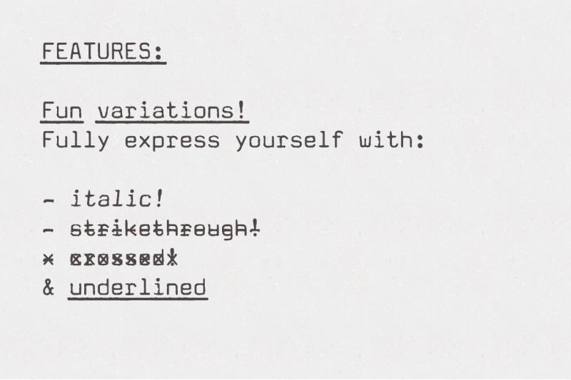 amateur-typewriter-monospaced-font