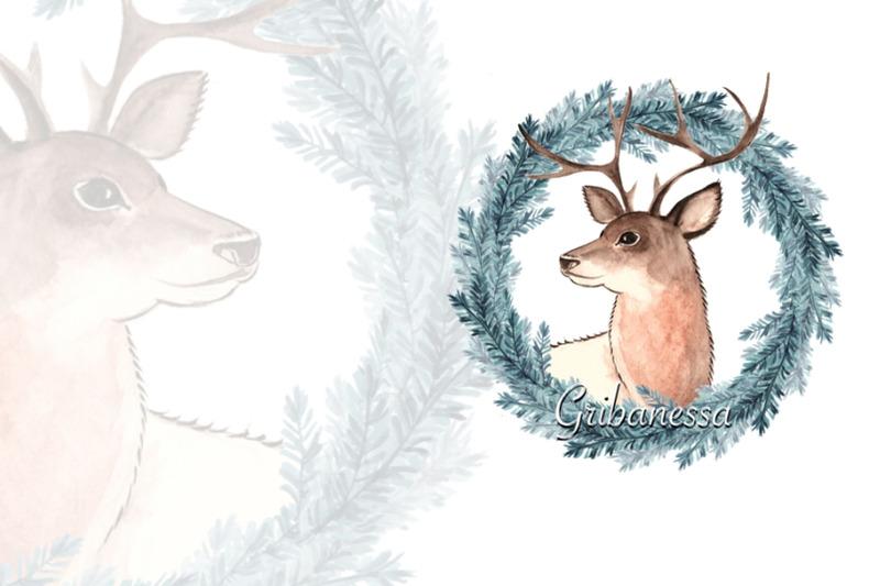 deer-watercolor