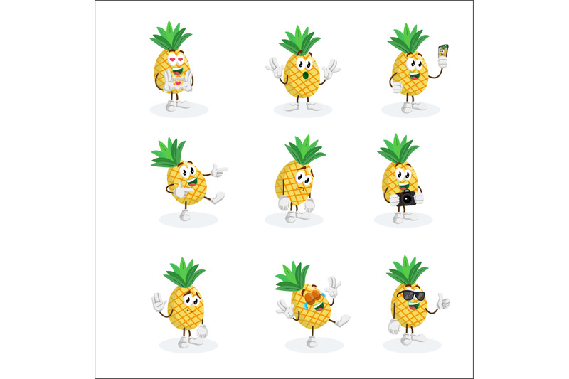 pineapple-mascot-logo