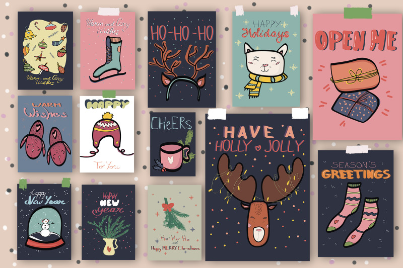 christmas-and-new-year-poster-collection