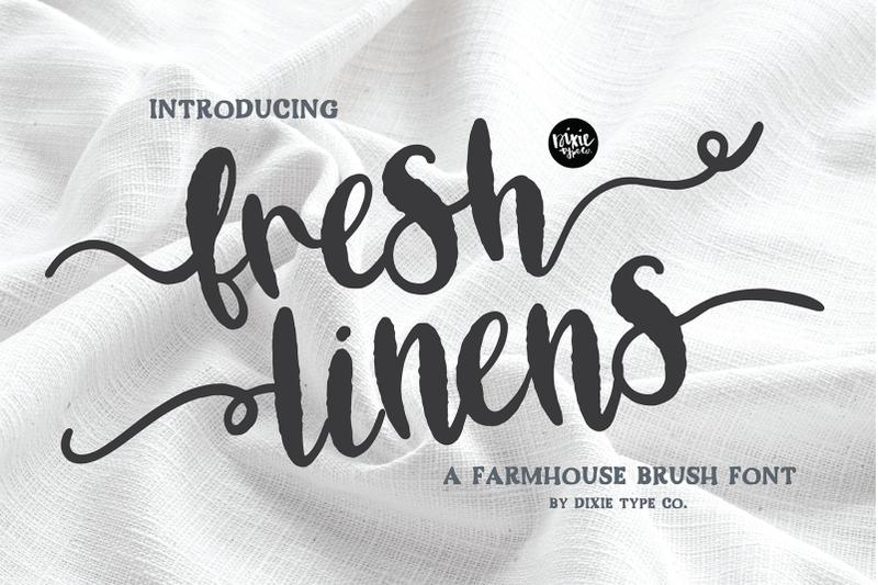fresh-linens-a-distressed-brush-script-font