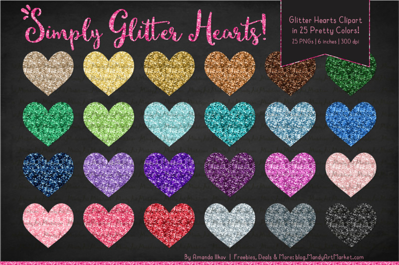 glitter-rainbow-hearts-clipart