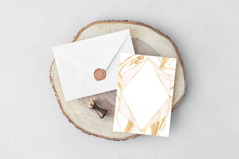16-vector-golden-invitations-brush-strokes