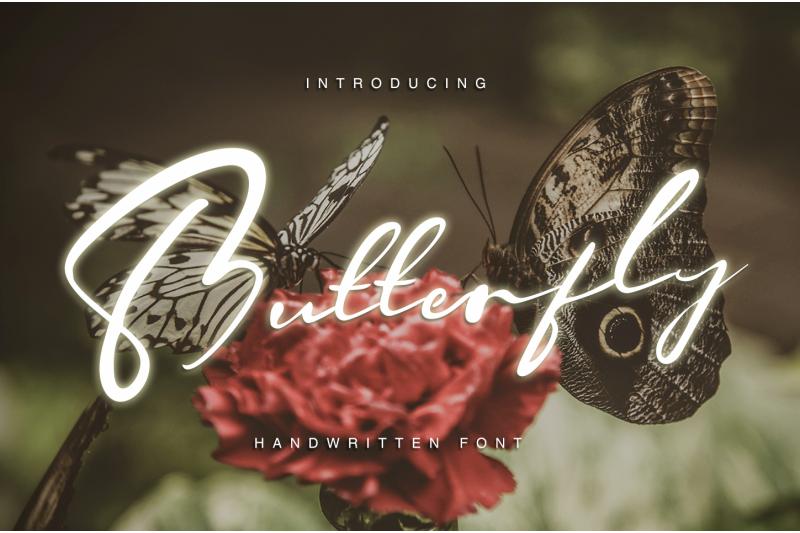 butterfly-handwritten-font