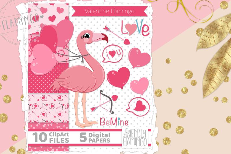 valentine-flamingo