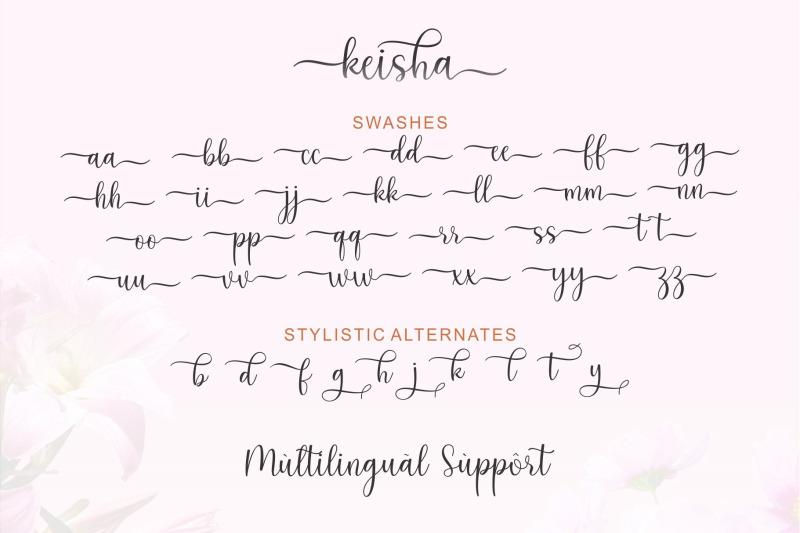 keysha-script-font
