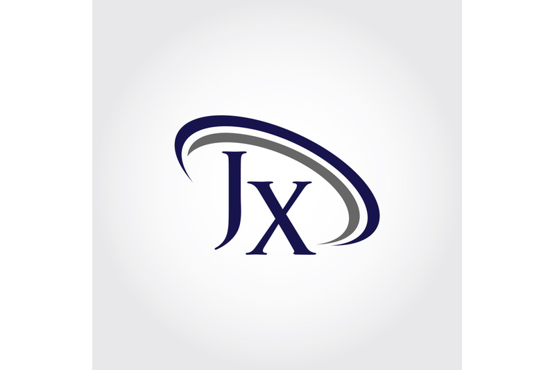 monogram-jx-logo-design