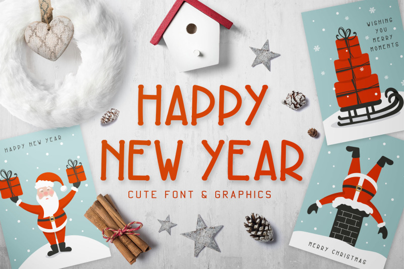 new-year-font-and-graphics-pack