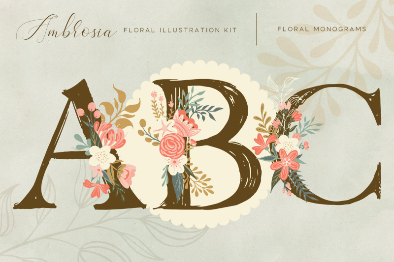 ambrosia-floral-illustration-clip-art-kit
