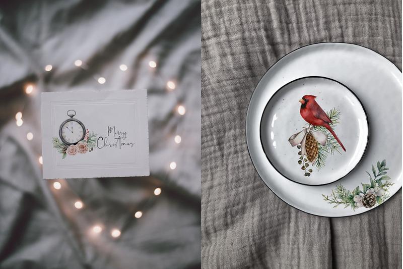 vintage-christmas-watercolor-bundle