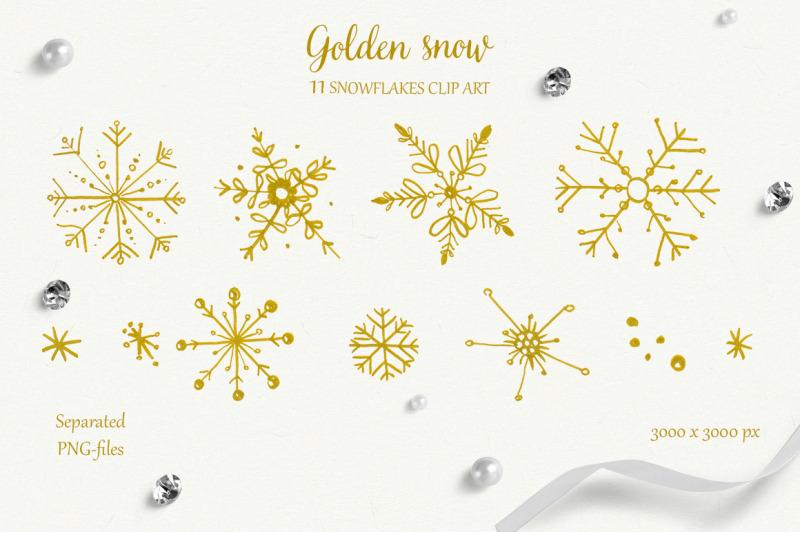 golden-snow-line-art-collection