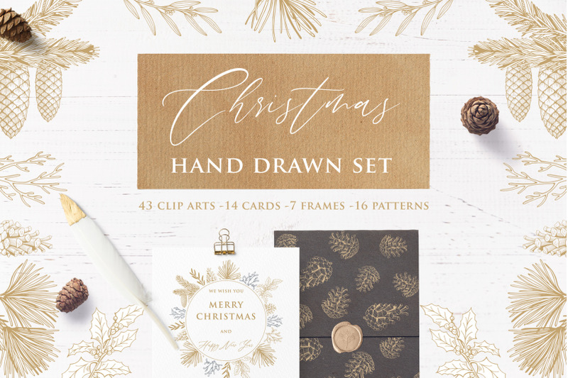 christmas-hand-drawn-set