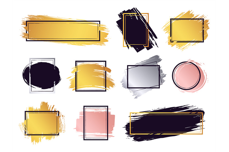 glamour-ink-brush-frame-gold-frame-elements-commercial-boxes-for-tex