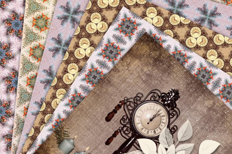 beige-vintage-christmas-photographic-textures-digital-paper