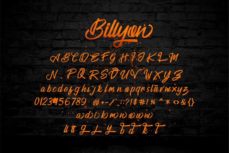 billyon-handwritten-script-fonts