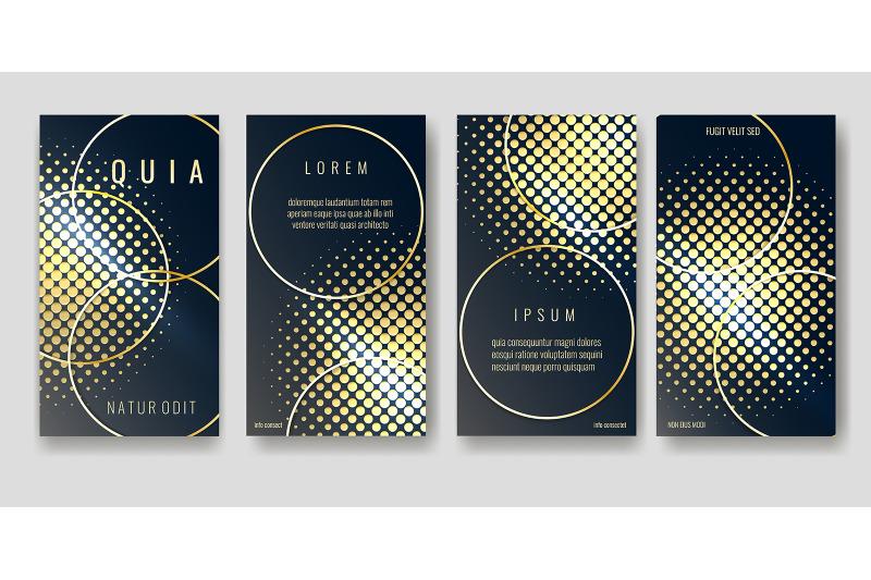gold-and-black-brochure-pages-design-vector-illustration