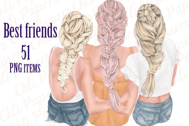 best-friends-clipart-besties-clipart-fashion-girls