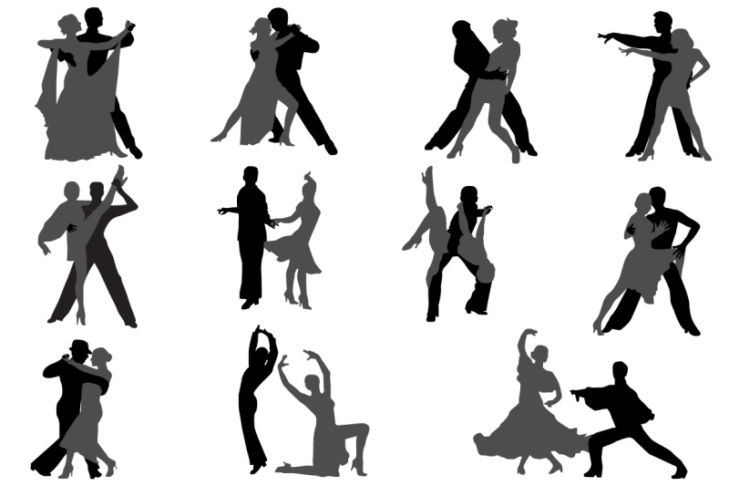 dancing-couples-silhouette