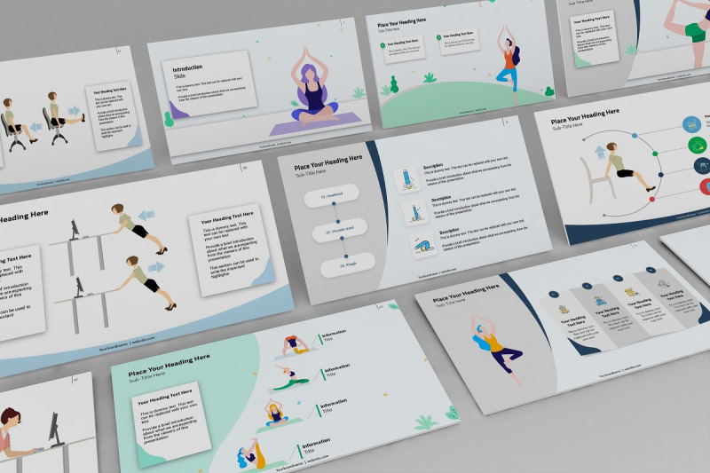 women-workout-keynote-template