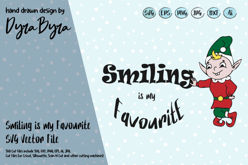 smiling-is-my-favourite-svg-elf-svg