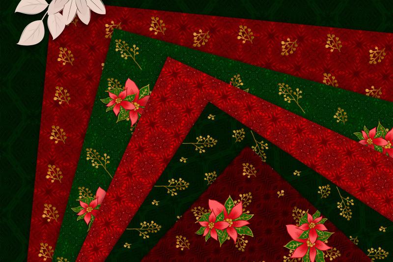 christmas-poinsettia-seamless-floral-digital-paper