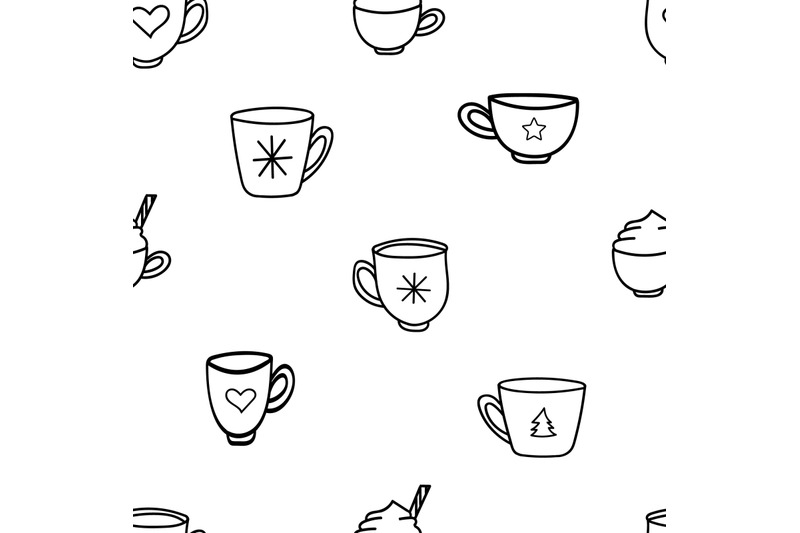 doodle-coffee-mugs-and-tea-cups-nbsp-seamless-repeating-nbsp-pattern