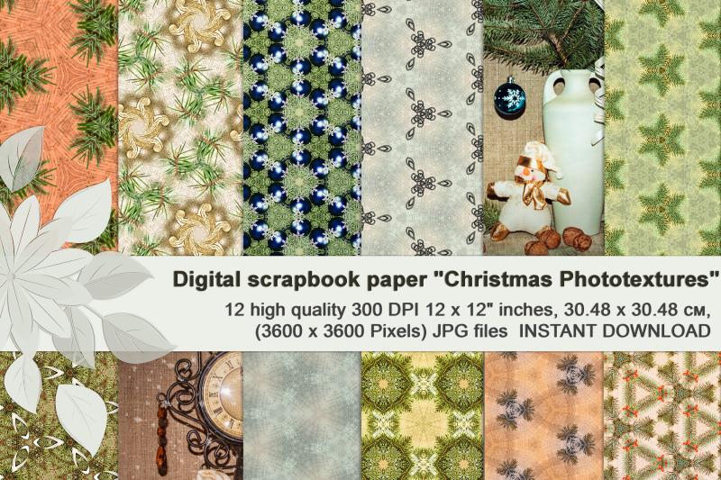 green-beige-vintage-christmas-photographic-digital-textures