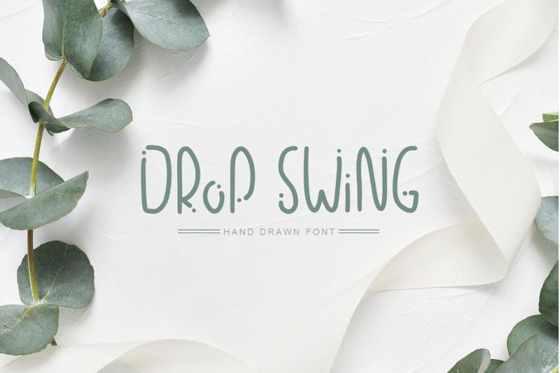 drop-swing-hand-drawn-font